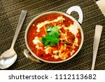 pure veg indian cheese cottage... | Shutterstock . vector #1112113682