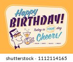 vintage style happy birthday... | Shutterstock .eps vector #1112114165