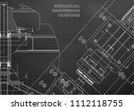 mechanical engineering drawings....   Shutterstock .eps vector #1112118755