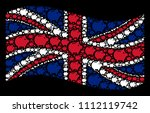 waving english state flag on a... | Shutterstock .eps vector #1112119742