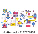 travel infographic icons items...   Shutterstock . vector #1112124818