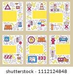 traffic light day brochure...   Shutterstock . vector #1112124848