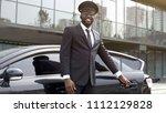 vip passenger taxi driver... | Shutterstock . vector #1112129828