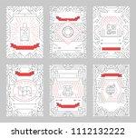set of thin line seabeach... | Shutterstock . vector #1112132222