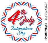 american patriotic background ... | Shutterstock .eps vector #1112136368