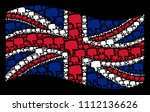 waving great britain flag on a... | Shutterstock .eps vector #1112136626