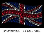 waving great britain state flag ... | Shutterstock .eps vector #1112137388