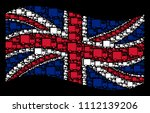 waving united kingdom flag on a ... | Shutterstock .eps vector #1112139206