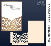 laser and die cut pocket... | Shutterstock .eps vector #1112140028