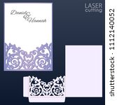 laser and die cut pocket... | Shutterstock .eps vector #1112140052