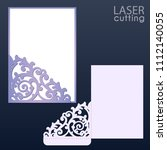 laser and die cut pocket... | Shutterstock .eps vector #1112140055