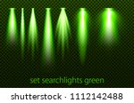 set of green searchlights on a... | Shutterstock .eps vector #1112142488