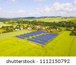 aerial view of solar power... | Shutterstock . vector #1112150792