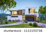 3d rendering of modern cozy... | Shutterstock . vector #1112153738