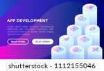 app development concept with... | Shutterstock .eps vector #1112155046
