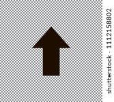 redo arrow icon. direction... | Shutterstock .eps vector #1112158802
