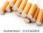 cigarette close up isolated on...   Shutterstock . vector #1112162822