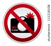 no flash sign on prohibited... | Shutterstock . vector #111218108