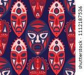 seamless pattern. african... | Shutterstock .eps vector #1112187536