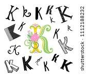 set of letter k in different... | Shutterstock .eps vector #1112188232