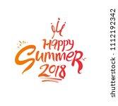 happy summer. 2018. seasonal... | Shutterstock .eps vector #1112192342