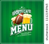 sports cafe menu card design ... | Shutterstock .eps vector #1112193965