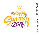 happy summer 2018. seasonal two ... | Shutterstock .eps vector #1112195462