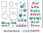 comic bubble set. popular...   Shutterstock .eps vector #1112196095
