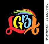 gay lettering. conceptual... | Shutterstock .eps vector #1112204492