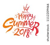 happy summer. 2018. seasonal... | Shutterstock .eps vector #1112209466