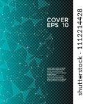 trendy report template. global... | Shutterstock .eps vector #1112214428