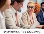 group of business people... | Shutterstock . vector #1112223998