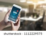 sms messaging communication... | Shutterstock . vector #1112229575