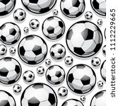 seamless pattern with football... | Shutterstock .eps vector #1112229665