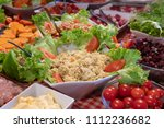 tasted and various food and... | Shutterstock . vector #1112236682