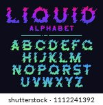 abstract colorful liquid splash ... | Shutterstock .eps vector #1112241392