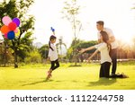 asian family run and play in a...   Shutterstock . vector #1112244758