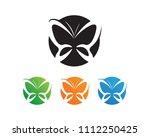 vector   butterfly conceptual... | Shutterstock .eps vector #1112250425