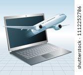 air flight concept design ... | Shutterstock .eps vector #1112252786