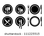 plate and cutlery | Shutterstock .eps vector #111225515