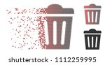 vector trash can icon in... | Shutterstock .eps vector #1112259995