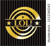 lol  gold shiny badge | Shutterstock .eps vector #1112260262