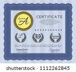 blue diploma or blue...   Shutterstock .eps vector #1112262845