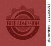 free admission retro style red... | Shutterstock .eps vector #1112266016