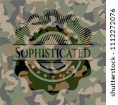 sophisticated on camo pattern | Shutterstock .eps vector #1112272076