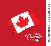 happy canada day calligraphy... | Shutterstock .eps vector #1112287598