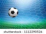 soccer football ball in soccer... | Shutterstock .eps vector #1112290526