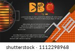 bbq party background vector...   Shutterstock .eps vector #1112298968