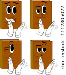 books with clapping hands....   Shutterstock .eps vector #1112305022