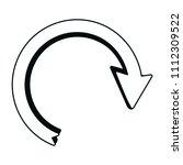 line arrow direction sign... | Shutterstock .eps vector #1112309522